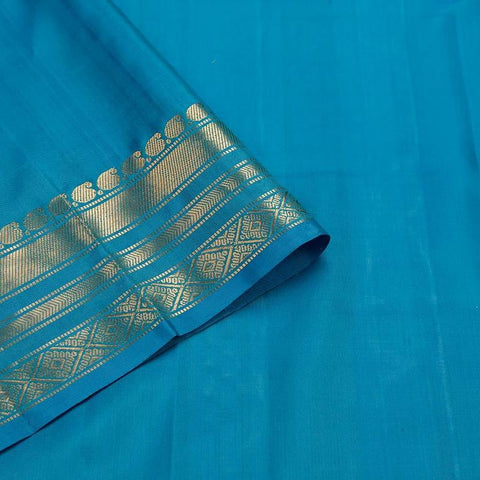 Gadwal Blue Silk Saree