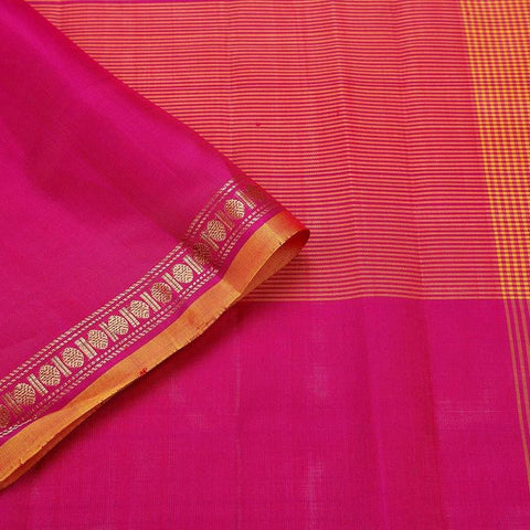 Kanjivaram Violet And Pink Silk Saree
