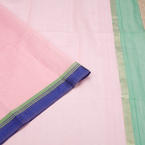 Maheshwari Cotton Silk Pink Saree