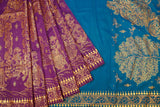 Blue and Purple-saree-RSHH2376