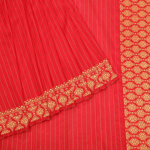 Assam Handwoven silk  Saree in Red