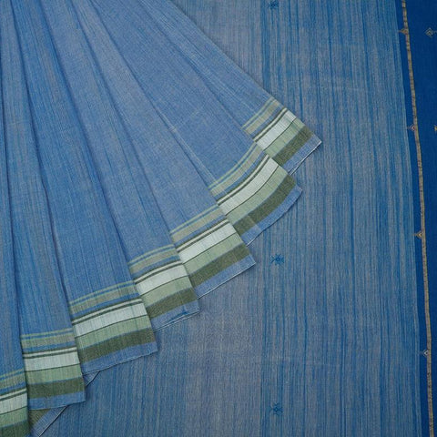 Handloom pestle blue silk  Saree