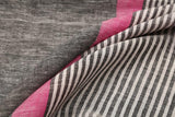 black grey and pink-saree-PROSAR0275
