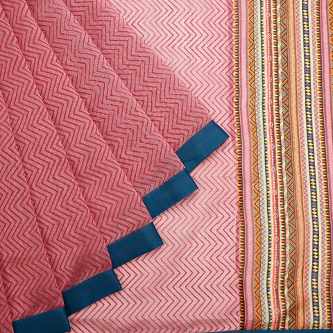 Maheshwari Mix And Match Pink Saree