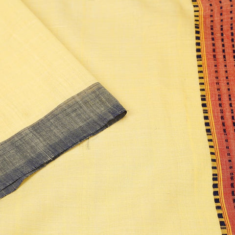 Assam Cream Cotton Saree