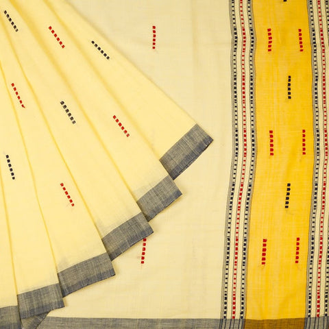 Assam Cotton Cream Saree
