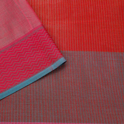 Maheshwari Handloom Silk Red Saree