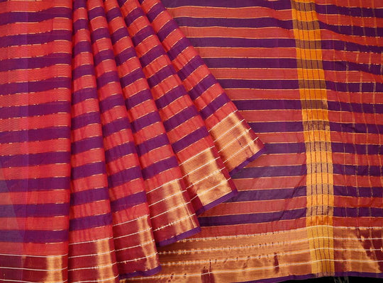 pink and purple-saree-CBESAR0096