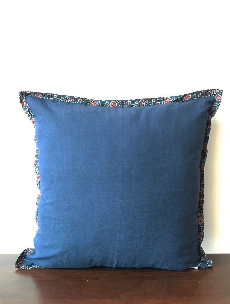 Hand Block Blue Cushion Cover (Set of 2)