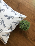 Hand Block White & Grey Cushion Cover (Set of 2)