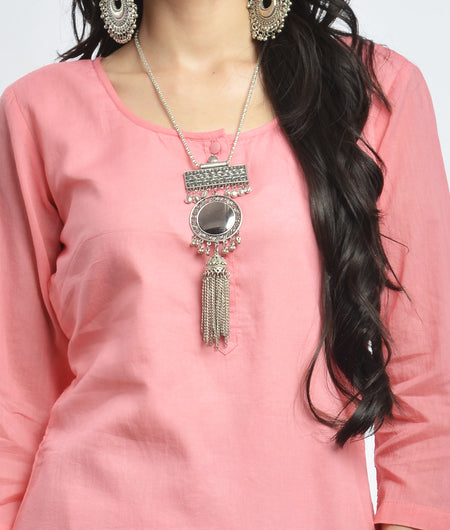 hand block  printed pink and blue Mulmul cotton Kurta Set