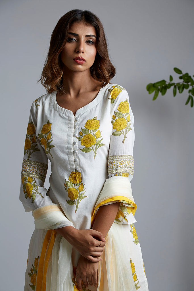 Yellow Rose Kurta