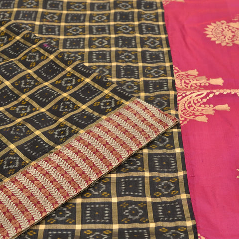 Banarasi black silk handwoven Work Saree