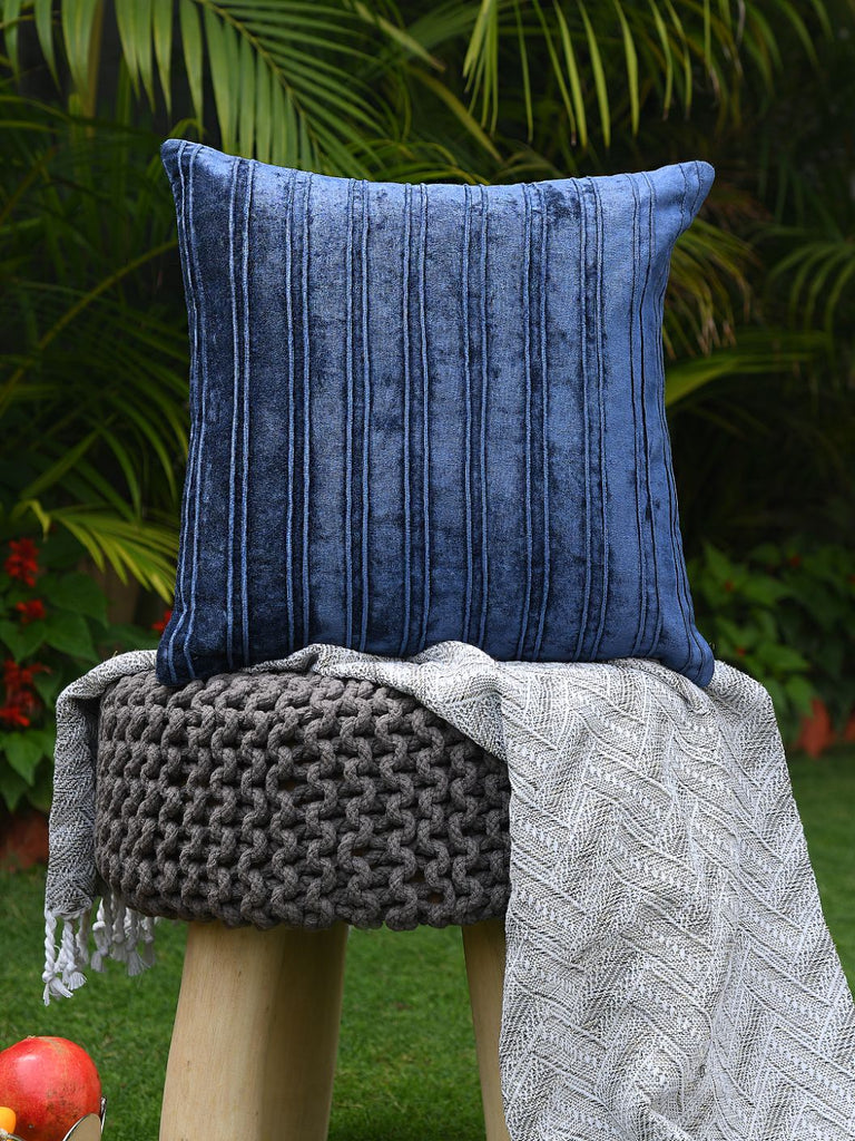 Viscose Velvet Double Needle Exclusively Designed Cushion Covers (Set of 2)