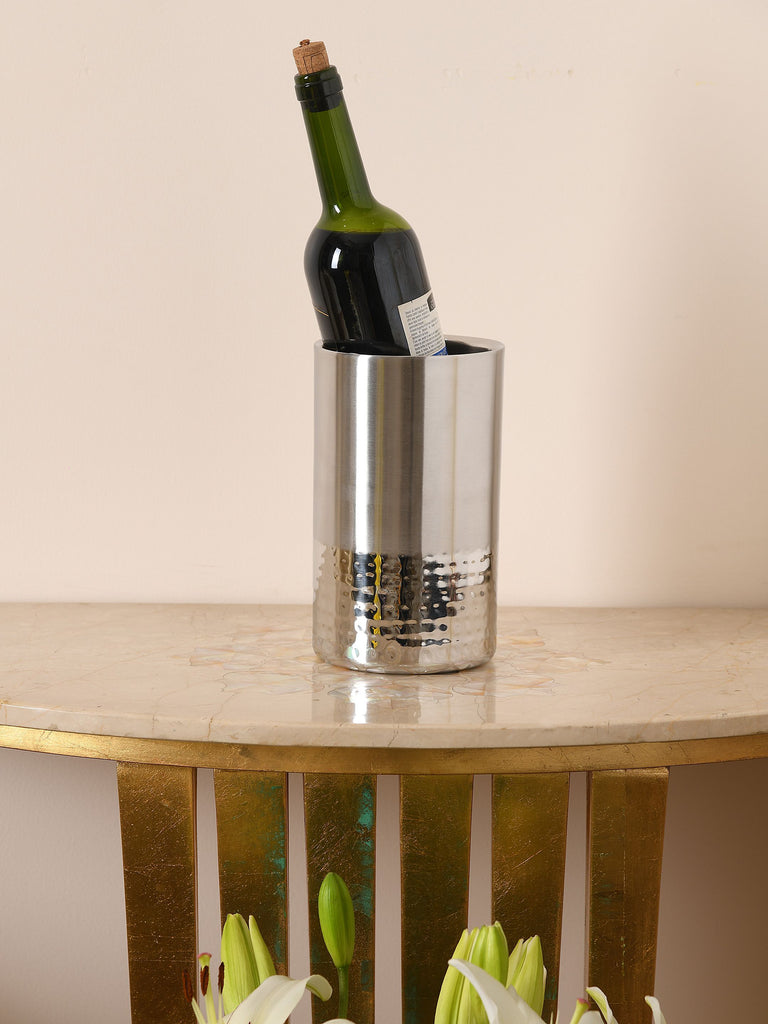 Stainless Steel Hammer Detail Wine Cooler