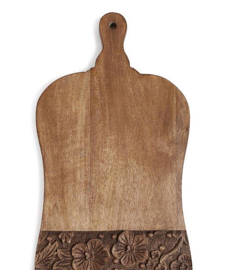 Exclusively Crafted Hand Carved Flower Border wooden Chopping Board