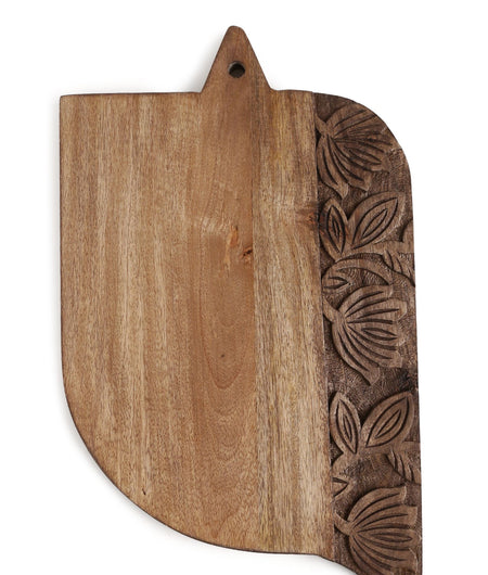 Exclusively Crafted Hand Carved Lotus Flower Border Wooden Chopping Board