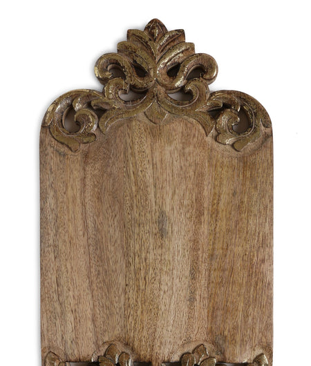 Exclusively Crafted Royal Look Hand Carved Gold Foiled Borders Exclusive Design Chopping Board