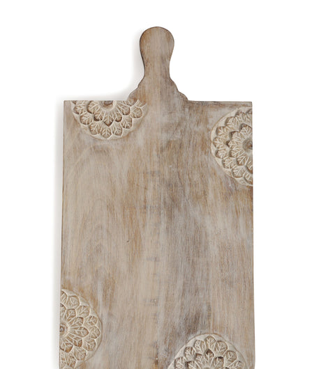 Exclusive Collection Hand Crafted Rectangular Chopping Board with Flower Design