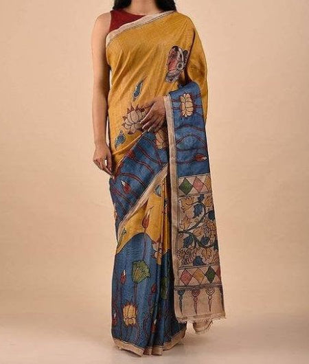 Multicolor Handwoven Traditional Silk Saree
