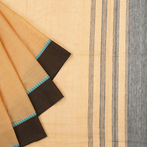 Begampur Cotton coffee Saree with matha border