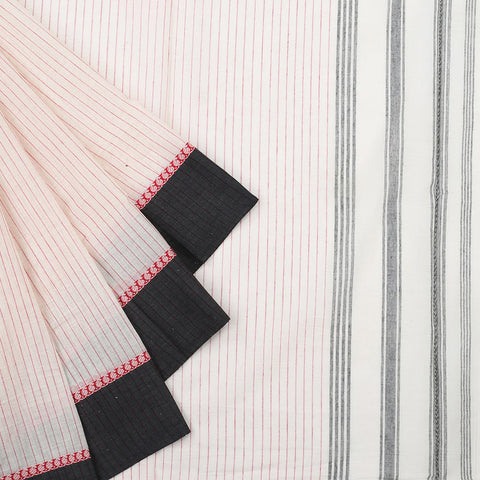 Begampur Cotton Off White Saree With Naksha Border