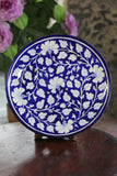 Blue Pottery Blue And White Floral Wall Plate