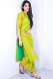 Handcrafted Mint Green Chanderi Suit