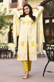 Eager Yellow Suit Set The Set Has Kurta, Palazzo & Dupatta