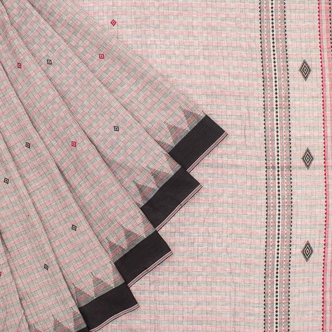 Black and Grey Kotpad Tussar Saree