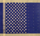 Royal-Blue-Chanderi-Silk-Cotton-Zari-Work-Saree-with-Coin-Motif-FANSAR0010