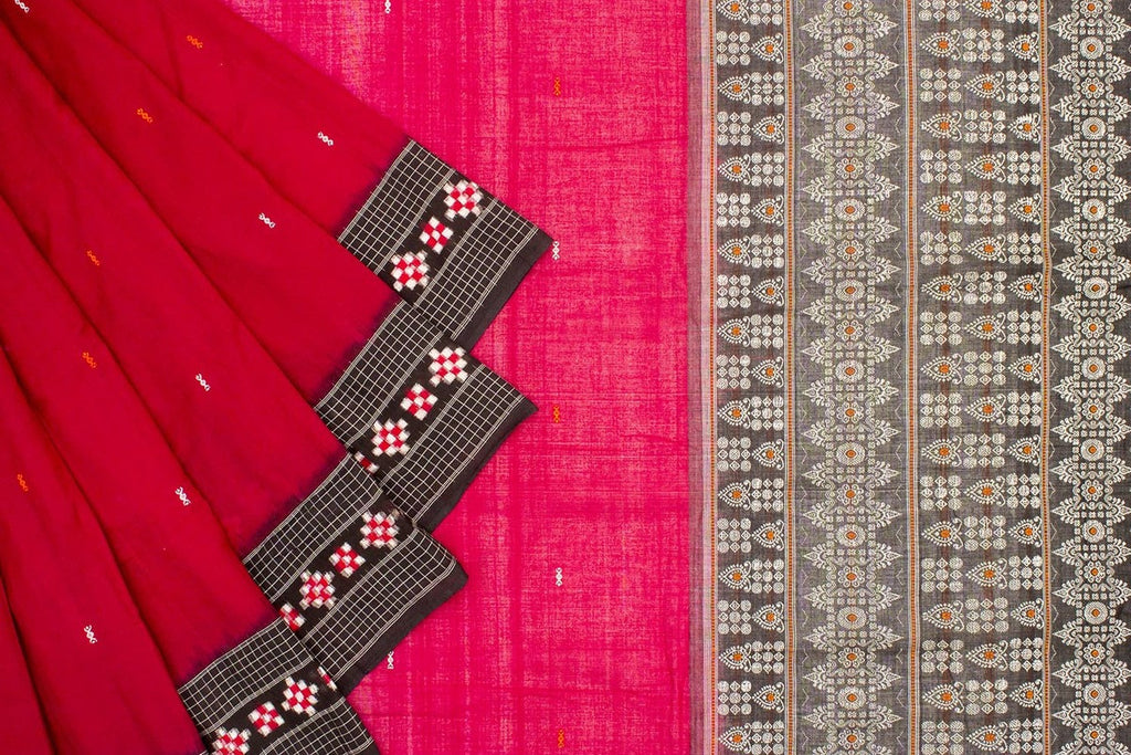 Cotton Sambalpuri Ikkat Saree With Passapalli Design