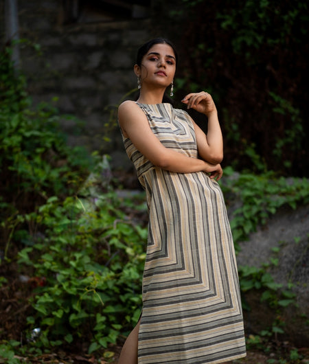 Handwoven Halda Cotton Woven Long Dress