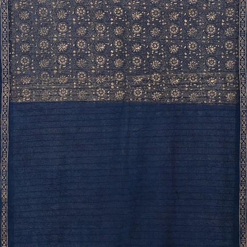 Natural Dye Block Print Silk Sari
