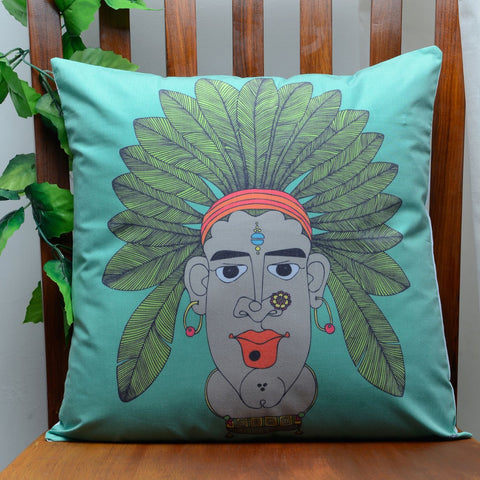 The Tribal Women Cushion Cover