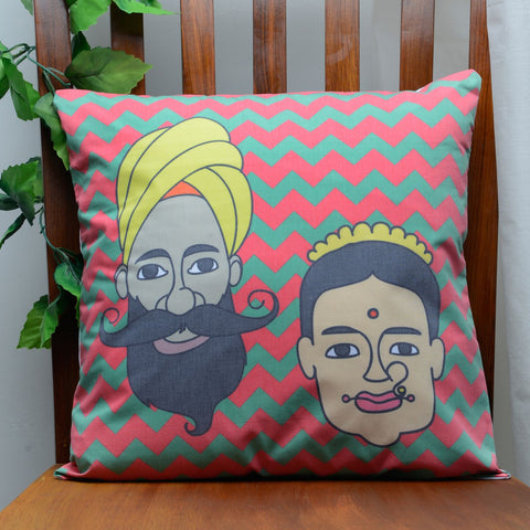 Spicy Couple Cushion Cover