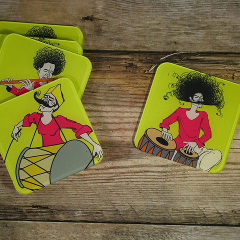 Set of 6 Acrylic Musician Coasters
