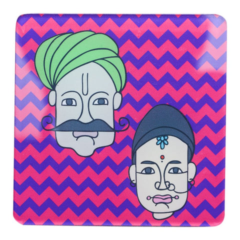 Set of 6 Acrylic Couple Coasters