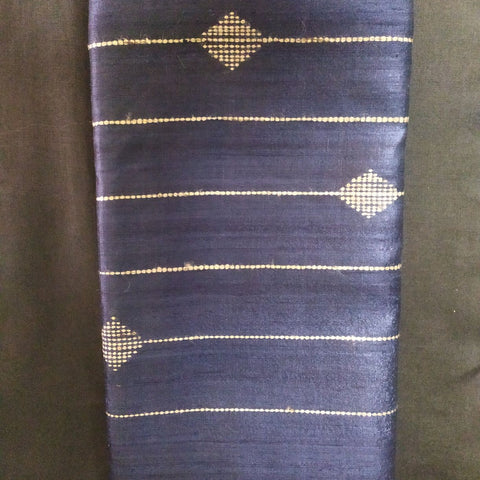Handloom Silk Handwoven Dark Blue Saree