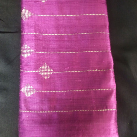 Handloom Silk Handwoven Dark Pink Saree