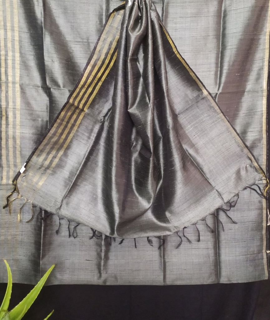 Handloom Silk Handwoven Grey Saree