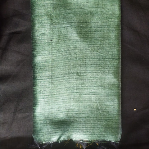 Handloom Silk Handwoven Green Saree