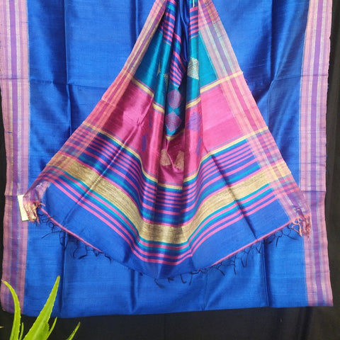 Handloom Silk Handwoven Navy Blue Saree