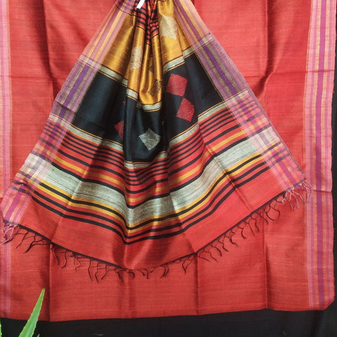 Handloom Silk Handwoven Red Saree