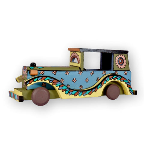 Hand Painted Kalamkari Vintage Car