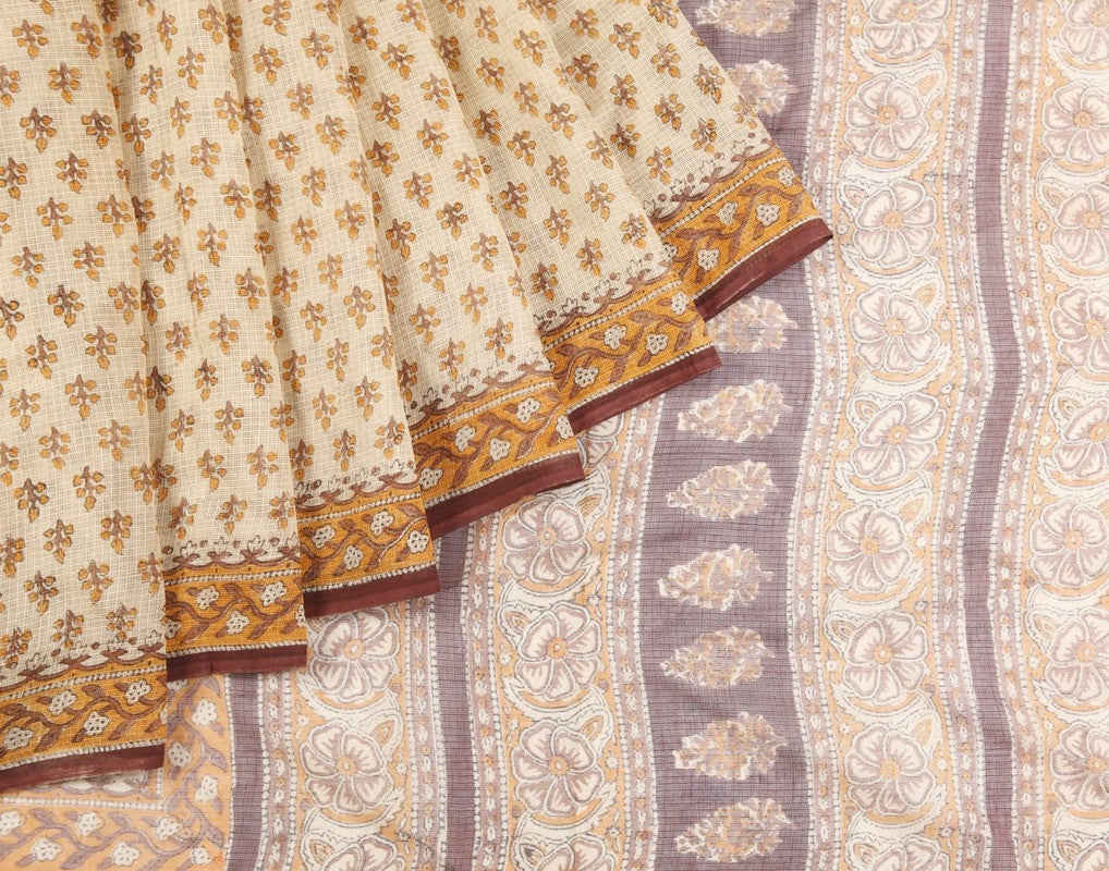 Jaipur Kota Saree In Cream