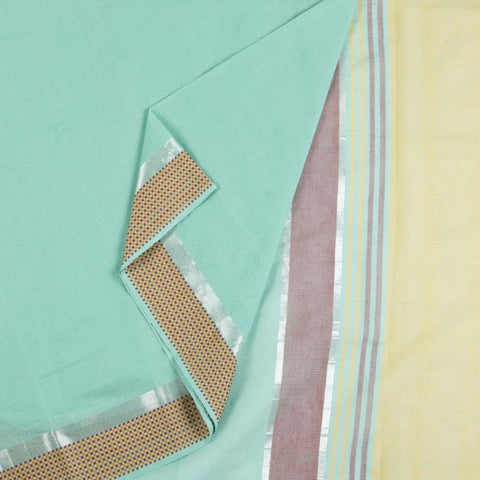 Upadda Cotton Saree In Sea Blue