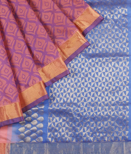 Mangalgiri Silk Saree In Pink