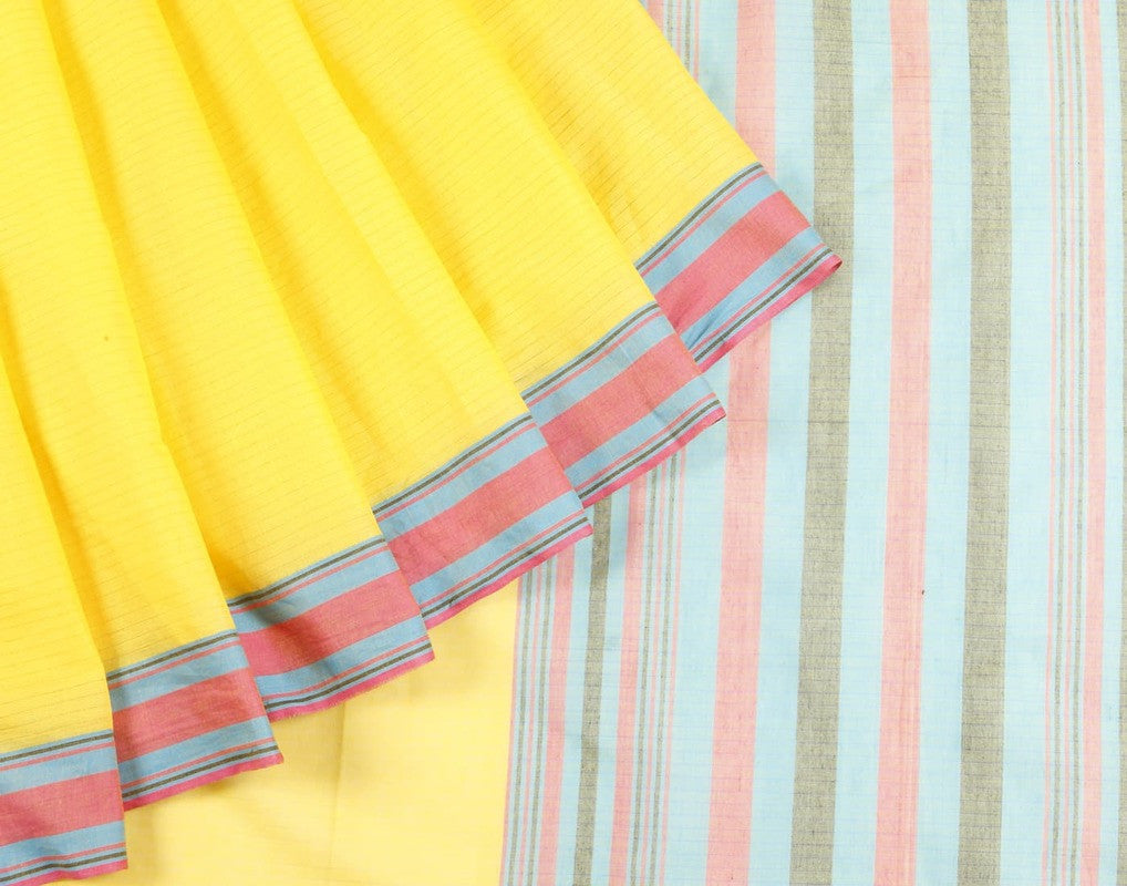 Uppada Cotton Saree In Yellow