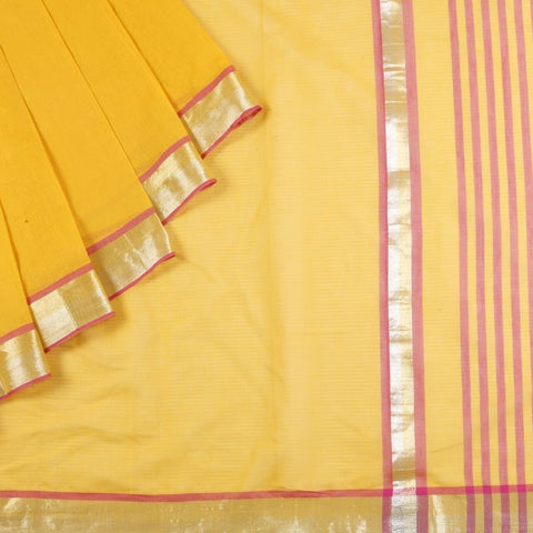 Uppada Cotton Saree In Turmeric Yellow